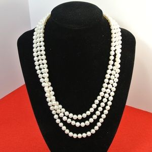Jewelry - White Freshwater Cultured A Quality Pearl Necklace